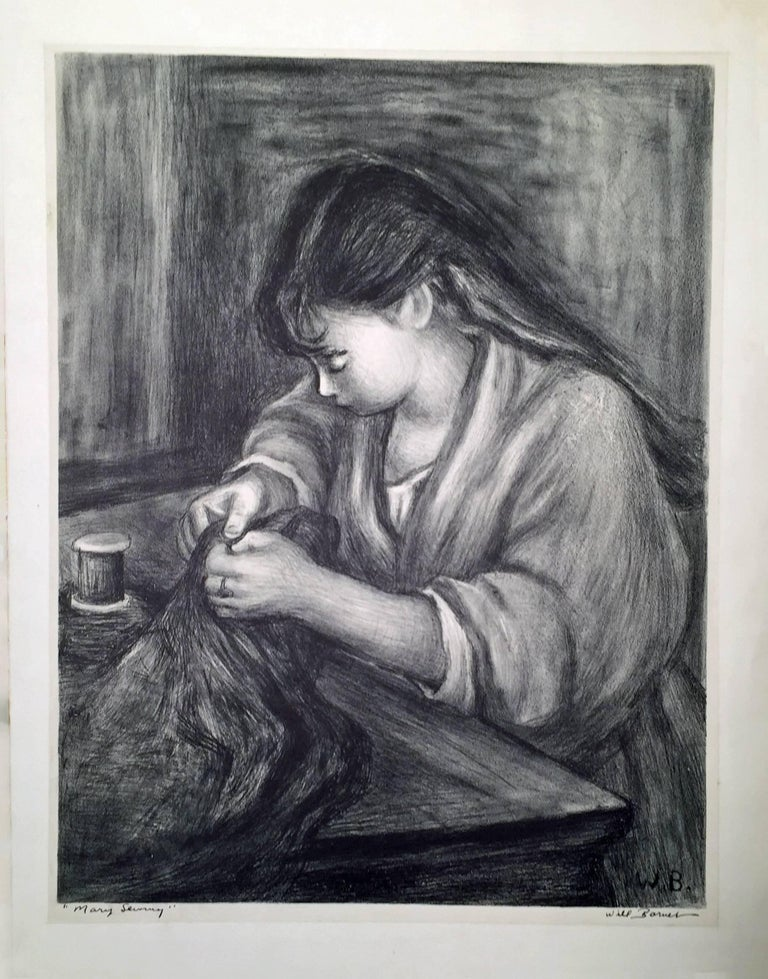 Will Barnet Portrait Print - MARY SEWING