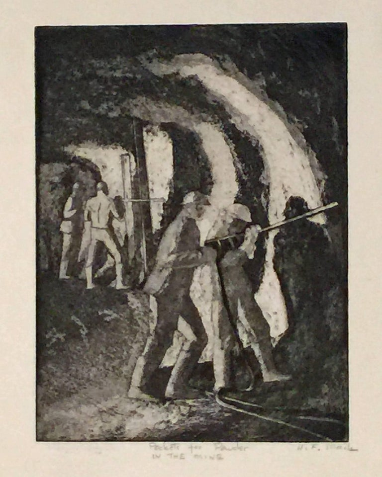 Harry F. Mack Figurative Print - POCKETS FOR POWDER IN THE MINE