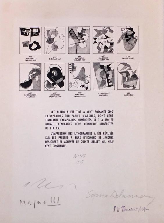 JEAN ARP - SONIA DELAUNAY - ALBERTO MAGNELLI - SOPHIE TAEUBER-ARP. - Print by Hans (Jean) Arp