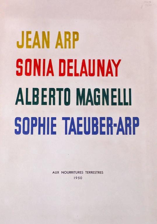 JEAN ARP - SONIA DELAUNAY - ALBERTO MAGNELLI - SOPHIE TAEUBER-ARP. - Abstract Geometric Print by Hans (Jean) Arp