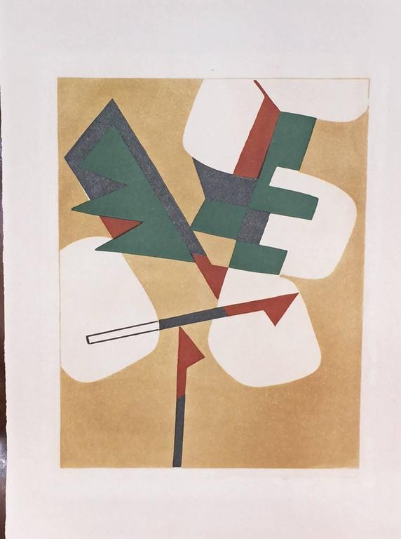 JEAN ARP - SONIA DELAUNAY - ALBERTO MAGNELLI - SOPHIE TAEUBER-ARP. - Beige Abstract Print by Hans (Jean) Arp