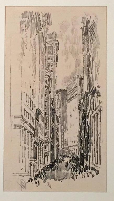 Joseph Pennell Lithographs Of New York Print For Sale