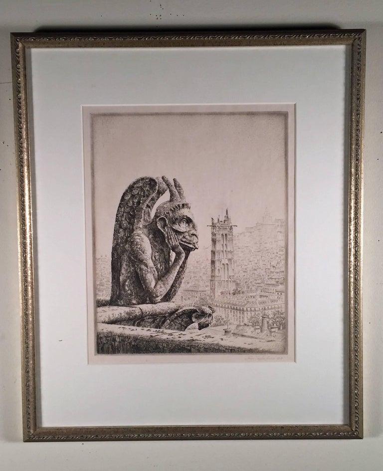 LE PENSEUR DE NOTRE DAME - Print by John Taylor Arms