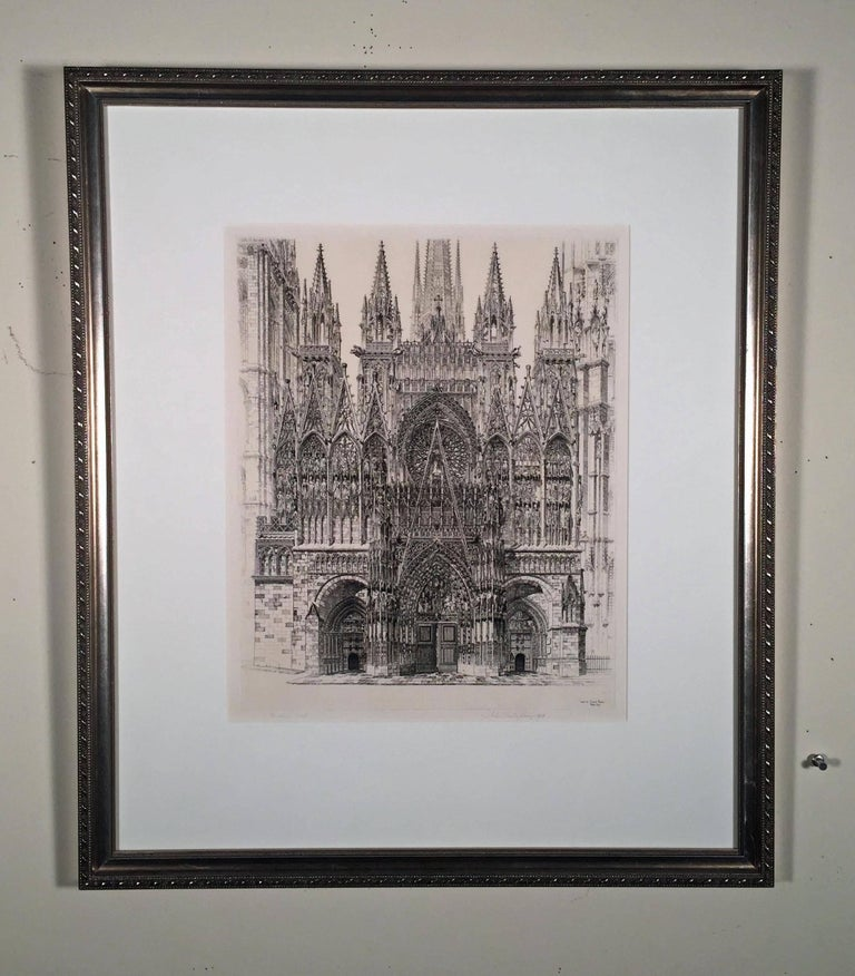 LACE IN STONE - ROUEN CATHEDRAL - Print by John Taylor Arms