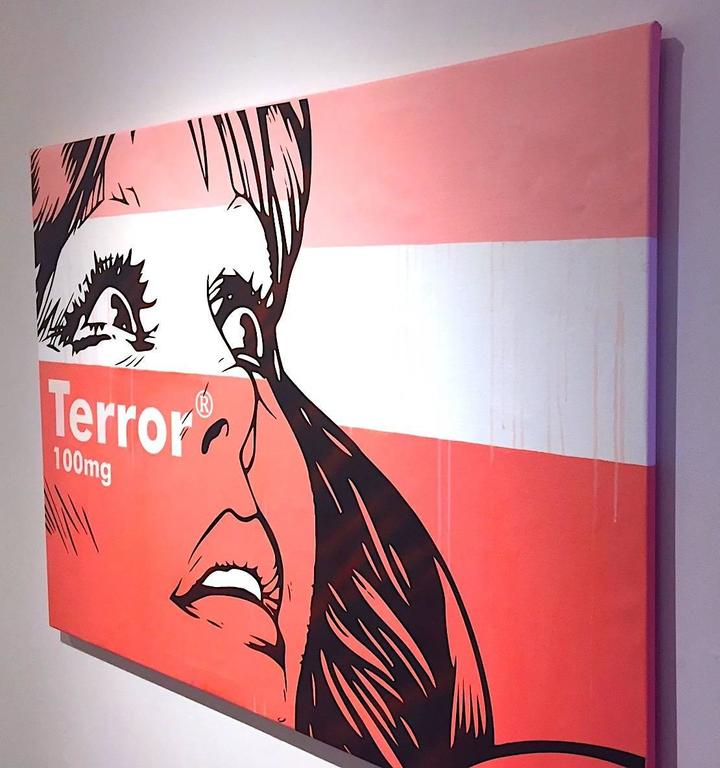 Terror - 100mg - Painting by Ben Frost