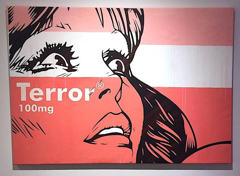 Terror - 100mg - Contemporary Painting by Ben Frost