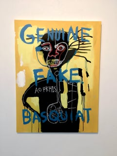 Fake Basquiat (Yellow King)