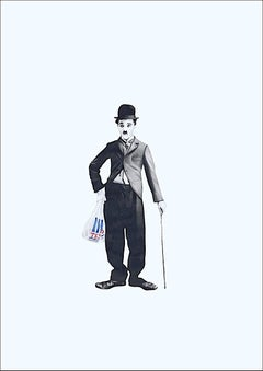 Chaplin shopping (framed in black)