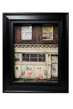 """""""4th. St."""" NYC - Custom framed with museum quality non-glare glass & LED lights."""