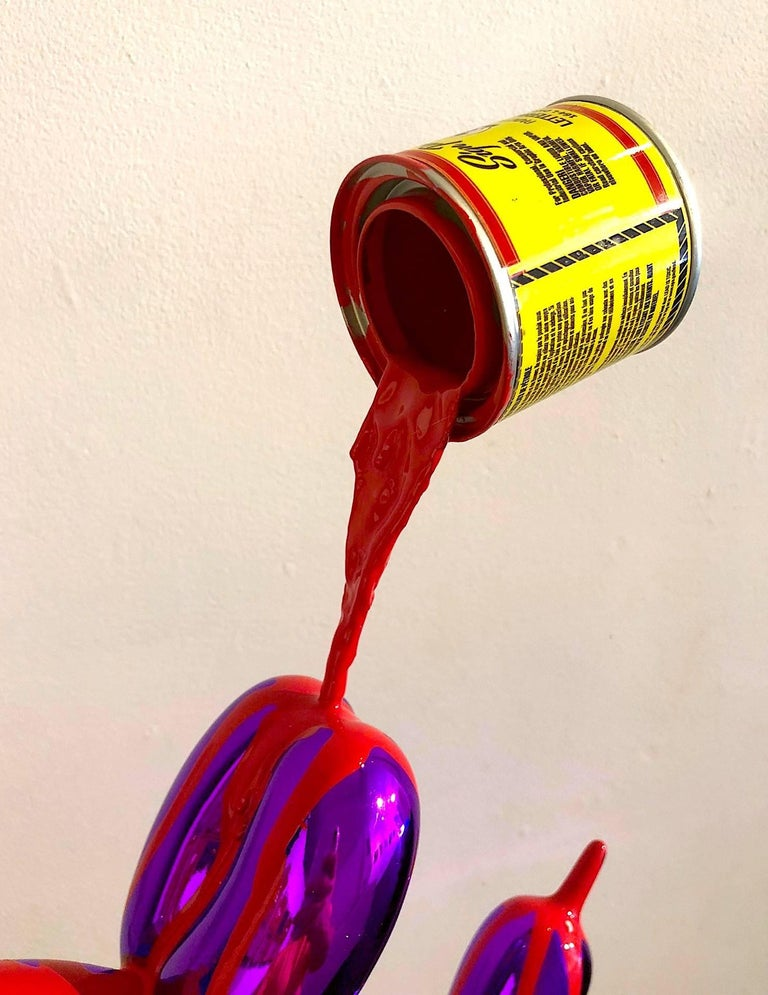 1shot paint can, casting resin, and enamel, metal sculpture   I consider my work to be artifacts of my own particular culture, which is not the generalized Japanese American culture, but that which formed as a direct result of being a first