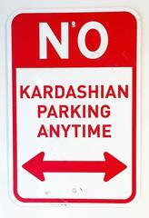 No Kardashian Parking