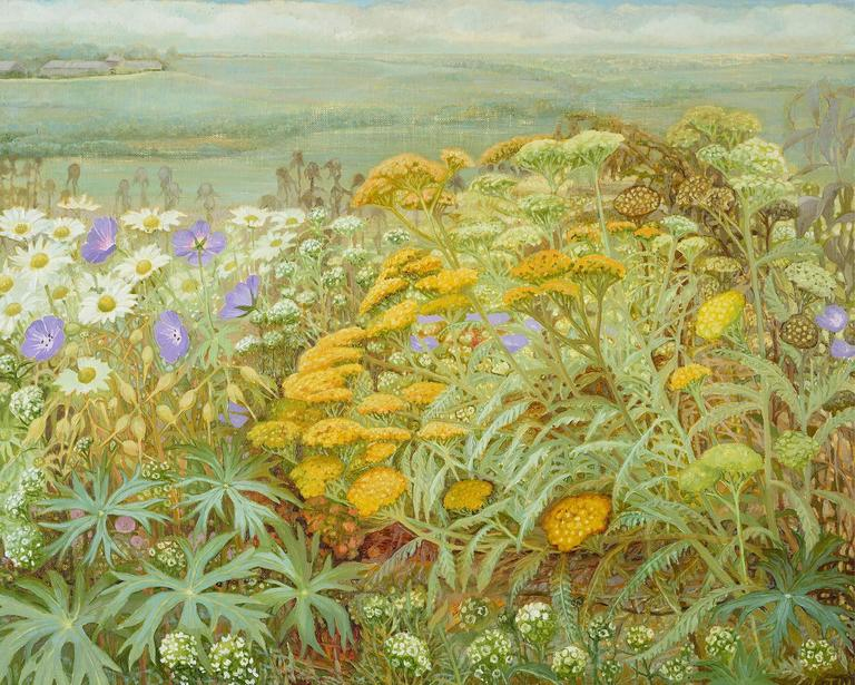 Jane Wormell Summer Garden Ii Painting For Sale At 1stdibs