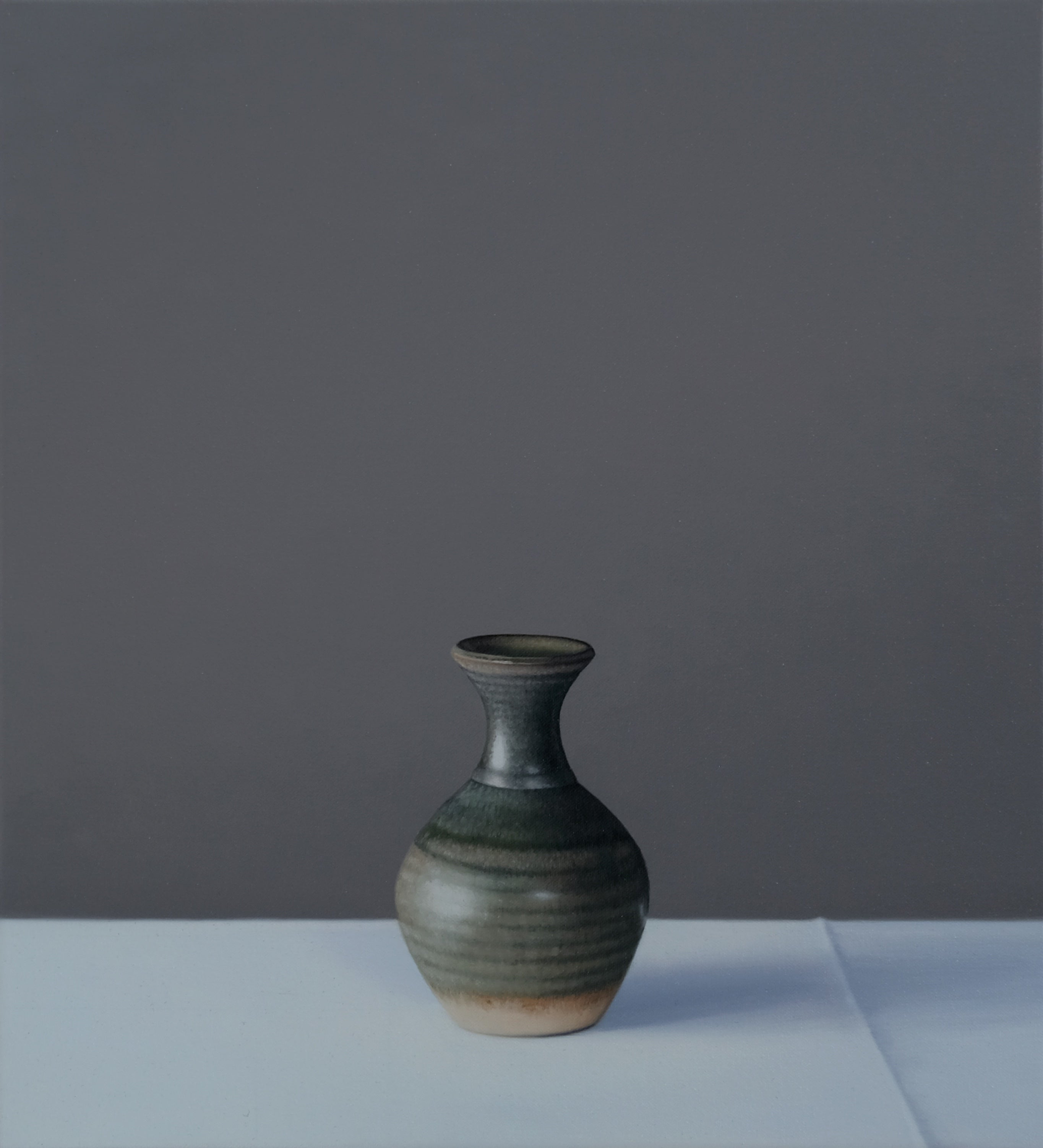Still Life of Small Green Vase