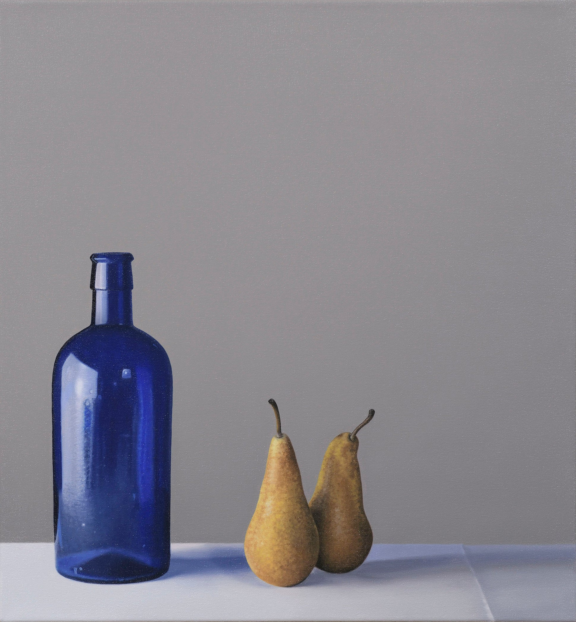 Still Life with Blue Glass Bottle and Pears