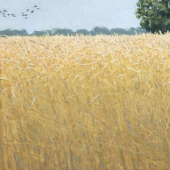 Wheat field - 21st century - Contemporary - Oil - Landscape