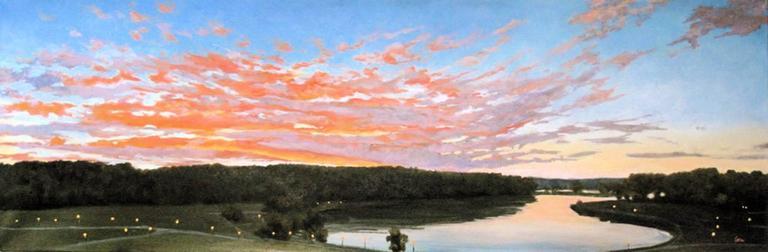 Elissa Gore Landscape Painting - Fiery Sky