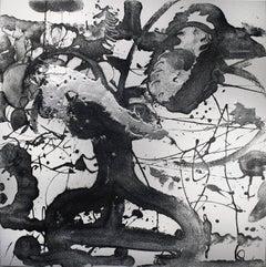Still life, Carborundum & Silver Painting, Catherine Howe, Cosmos