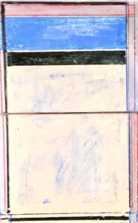 Linda Touby Abstract Painting - Sidney's Door (diptych)
