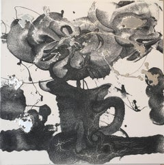 Still life, Carborundum & Silver Painting, Catherine Howe, Petunia