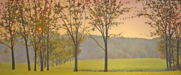 Elissa Gore Landscape Painting - Hazy Woodstock