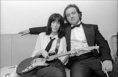 Patti Smith and John Belushi backstage at Saturday Night Live, 1976