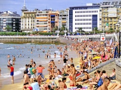 Coastal photography, DJ Leon, Beach photograph of San Sebastian, Spain