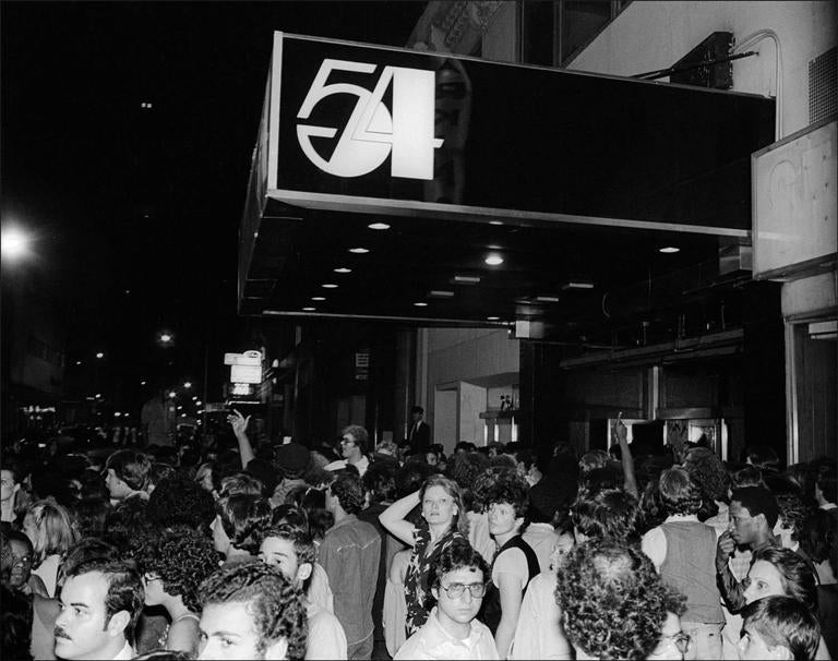 Allan Tannenbaum Studio 54 Logo Crowds For Sale At 1stdibs