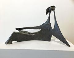Important Angel Botello Bronze Sculpture Reclining Woman