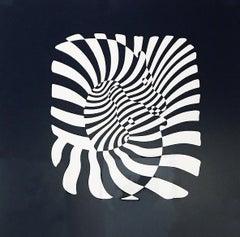 Zebra Heads (White on black)