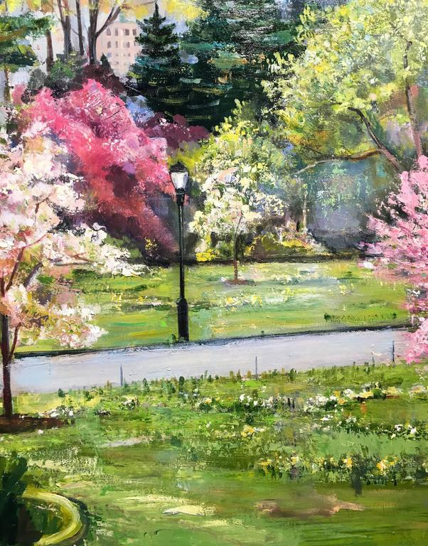 Lawrence Kelsey Fruit Trees In Bloom Painting For Sale