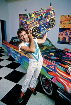 Kenny Scharf, Boombox and Cadillac