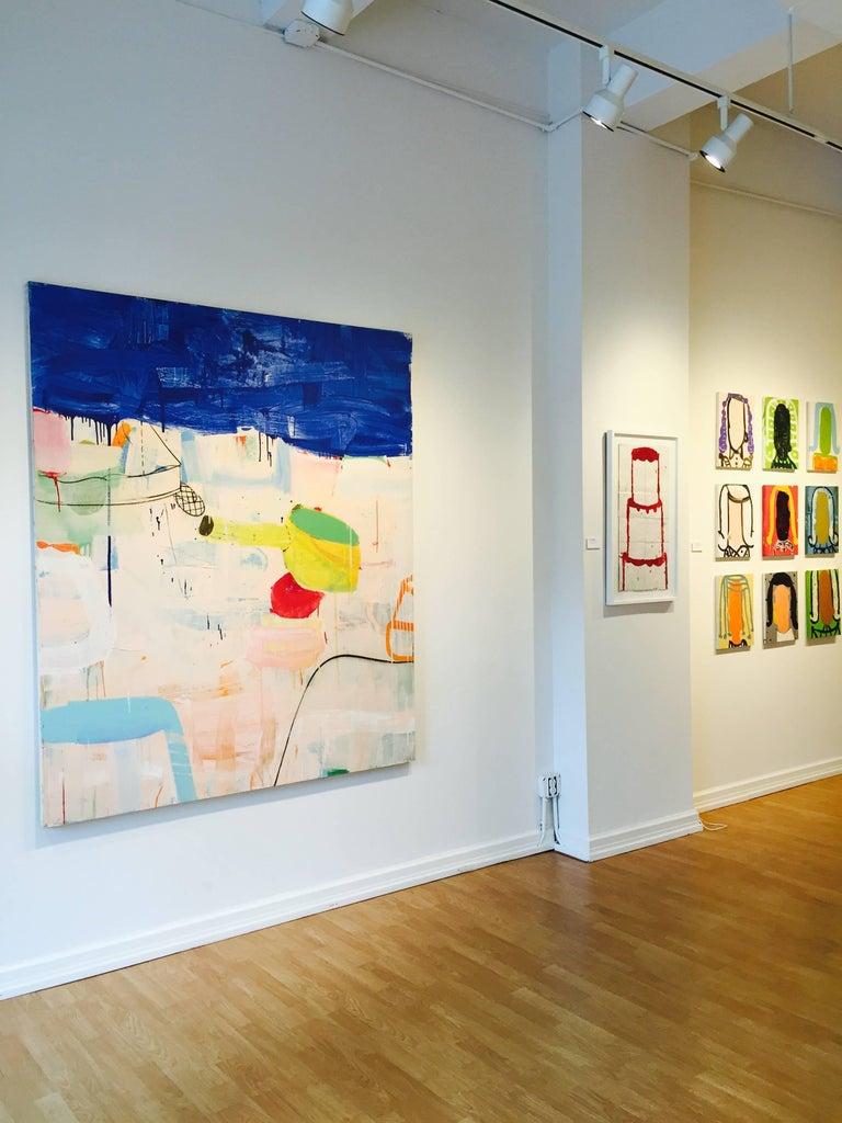 A Suite of Blue Sea Cap, Ferrat - Painting by Gary Komarin