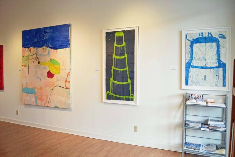 A Suite of Blue Sea Cap, Ferrat - Colour-Field Painting by Gary Komarin