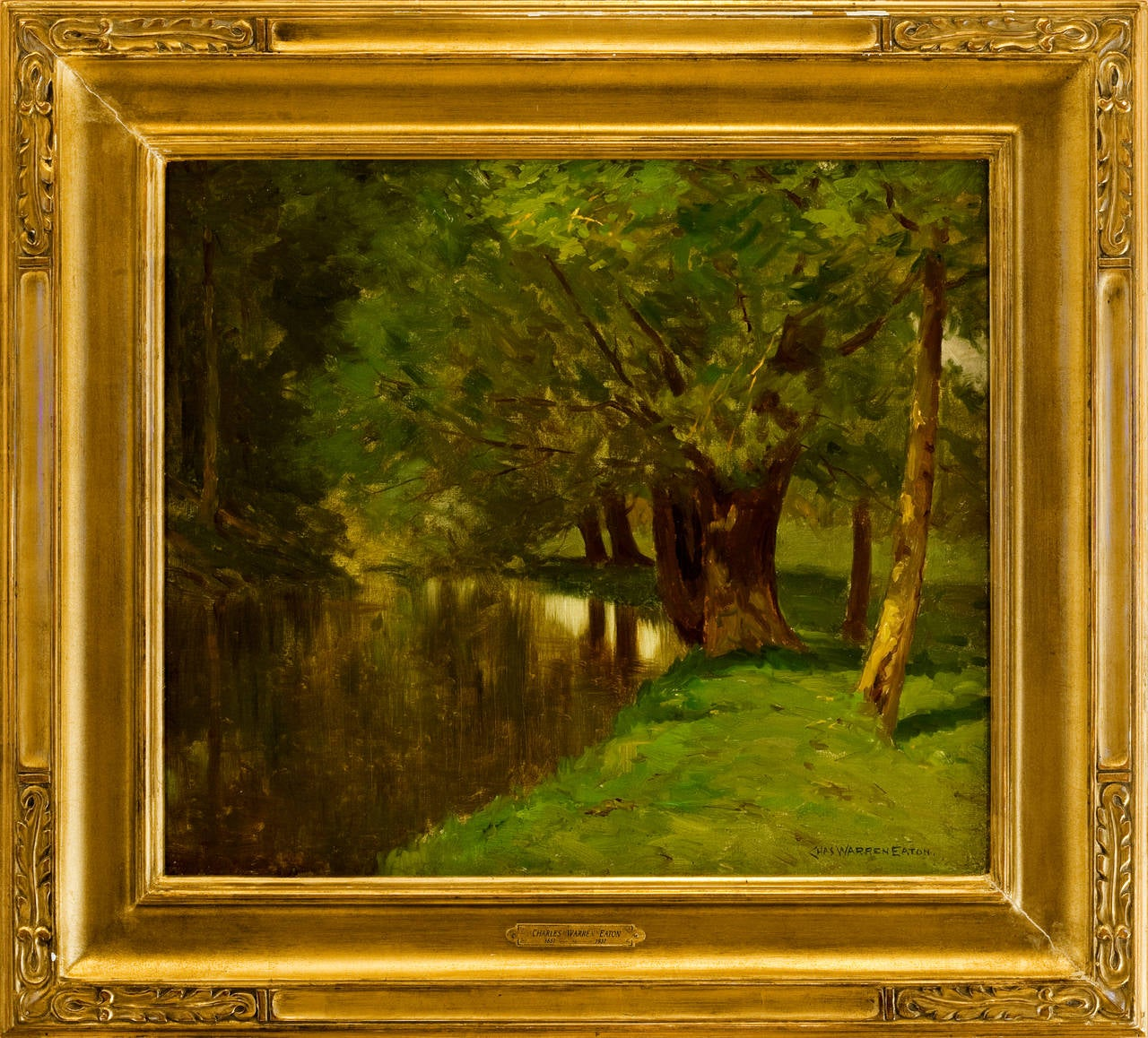 "New Jersey Home Painting From J S Painting: ""River"", Painting For Sale At 1stdibs"