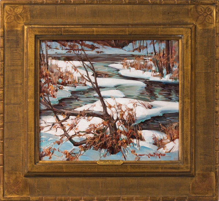 "Arthur Meltzer Landscape Painting - ""Creek Near Rushland"""