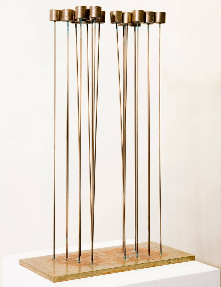 Jim's of Lambertville is proud to offer this artwork.  Signed on base: B-1360   Val Bertoia (born 1949)  Val Bertoia was born in Santa Monica, California in 1949. In the 1950s, his family moved from California to Pennsylvania where he has lived and