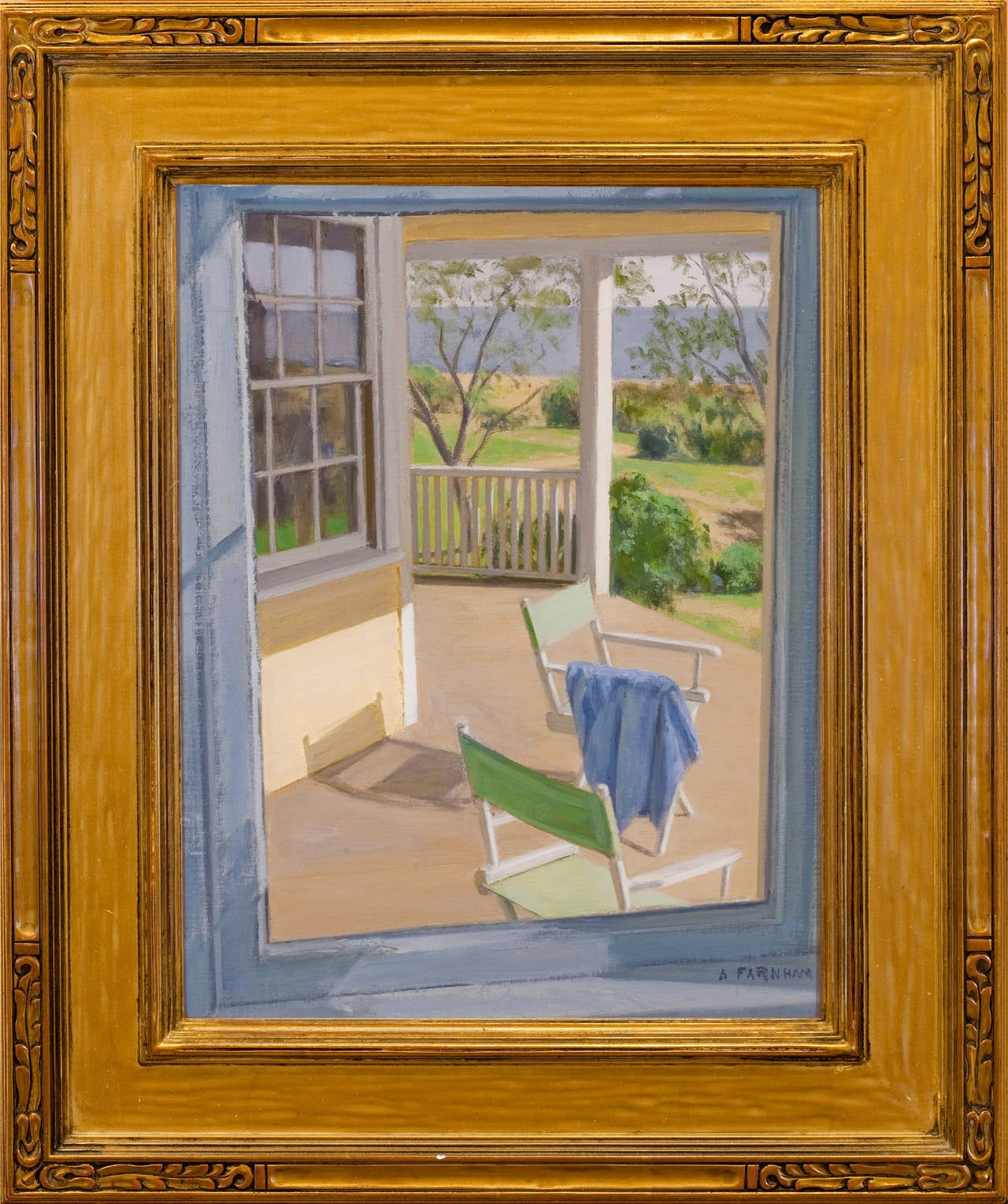 """Alexander Farnham Landscape Painting - """"View from Dining Room Window"""""""