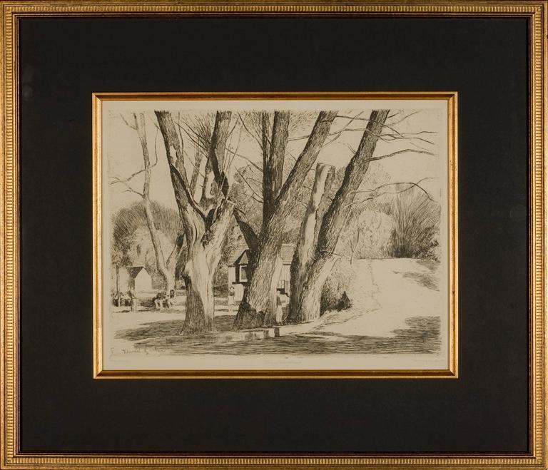 "Daniel Garber Landscape Print - ""Spring Valley Willows"""