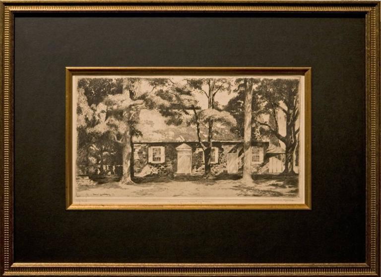 "Daniel Garber Landscape Print - ""Birmingham Meeting House"""