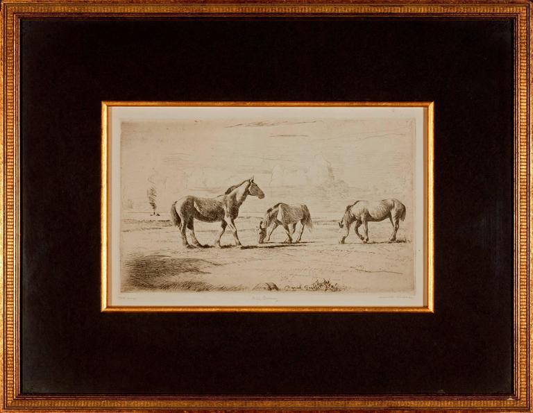 """Daniel Garber Landscape Print - """"Old Barney"""""""