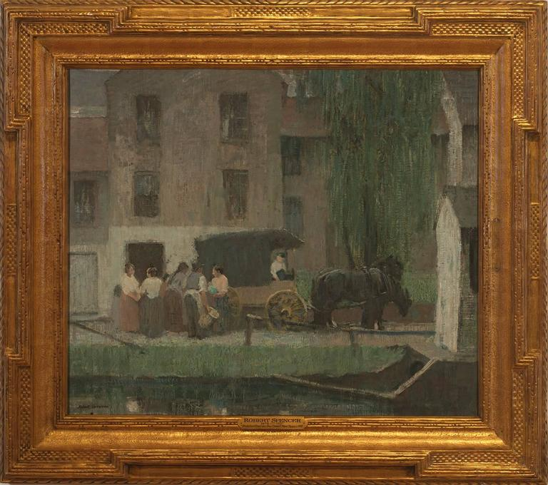 """""""Peddler's Cart on the Canal, New Hope"""""""