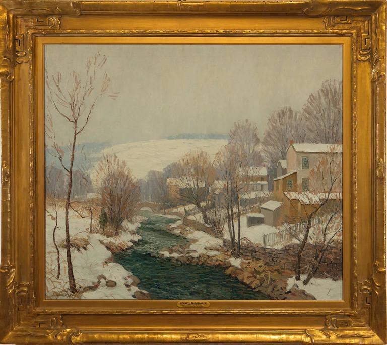 "Kenneth R. Nunamaker Landscape Painting - ""Carversville"""