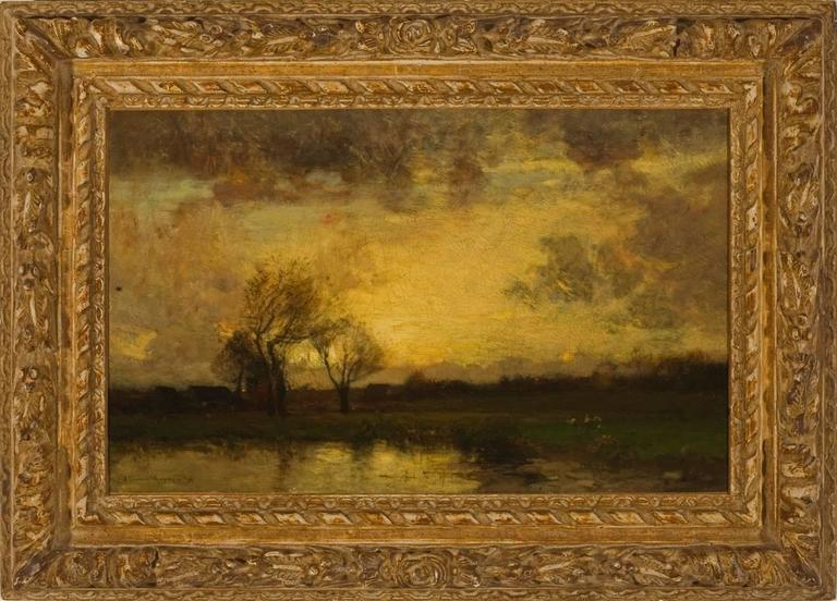 """John Francis Murphy Landscape Painting - """"Landscape with Trees and Pond"""""""