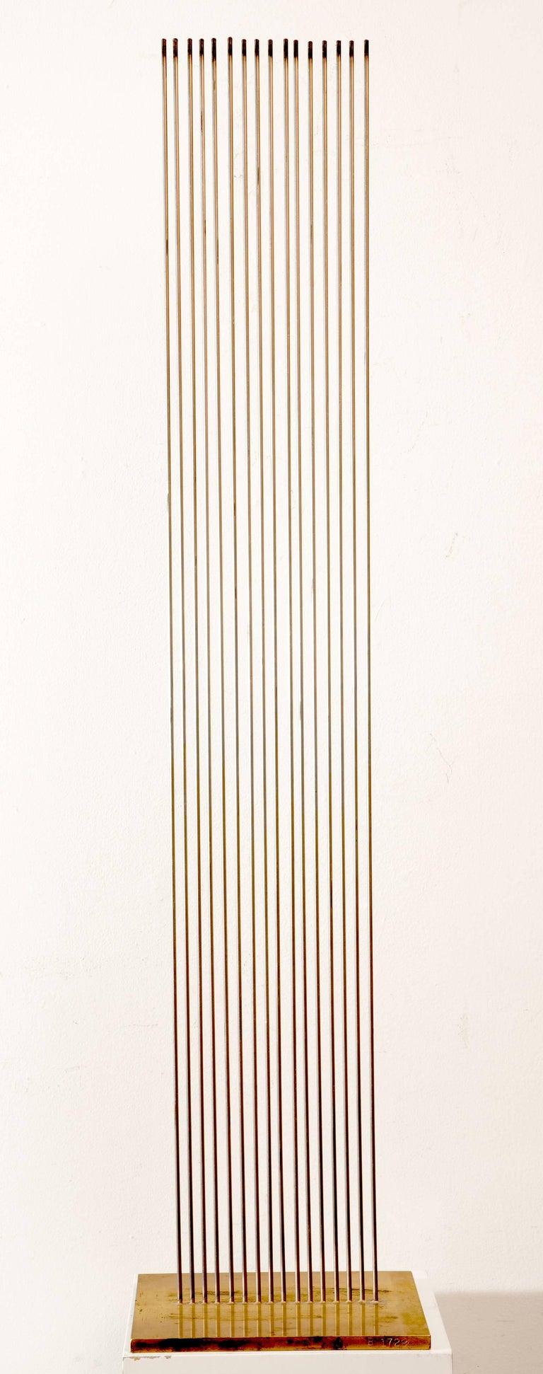 Val Bertoia Abstract Sculpture - Monel Model For Sound Screen 16 Rods