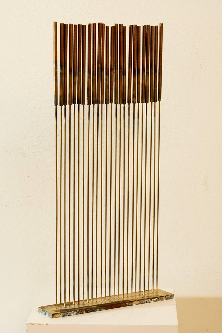 Val Bertoia Abstract Sculpture - 24 Cat-Tails Rods