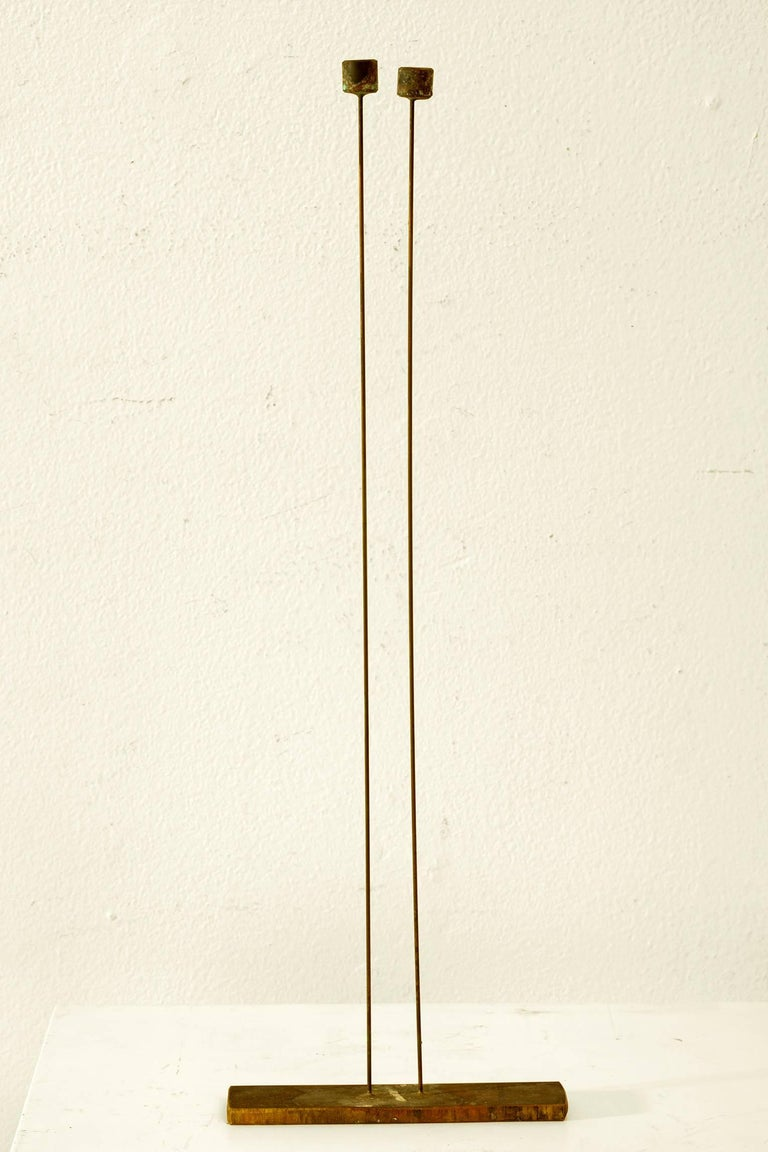 Harry and Val Bertoia Abstract Sculpture - Small 2 Rods