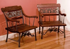 Pair of Squirrel Motif Chairs