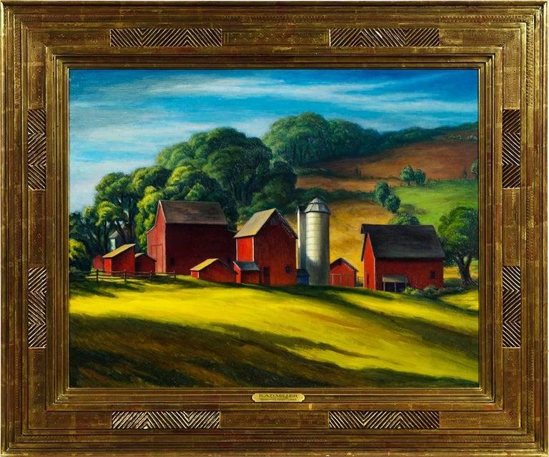 "RAD Miller Landscape Painting - ""Solebury Hills"""