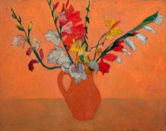 """Gladioli in Clay Pot"""