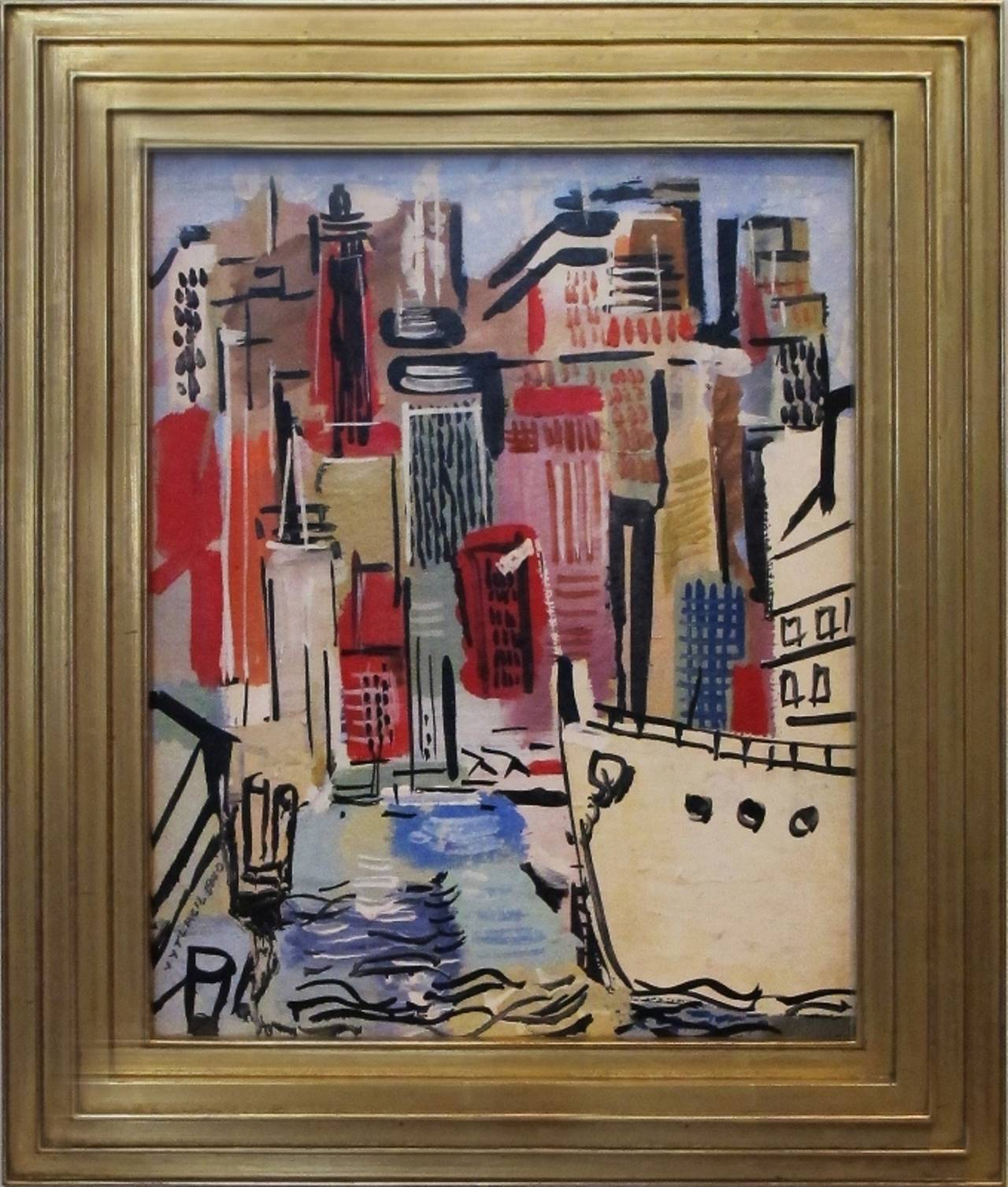 Jim's of Lambertville is proud to offer this artwork.  Signed & dated 1940 lower left.   Vaclav Vytlacil (1892-1984)  He was born to Czechoslovakian parents in 1892 in New York City. Living in Chicago as a youth, he took classes at the School of the